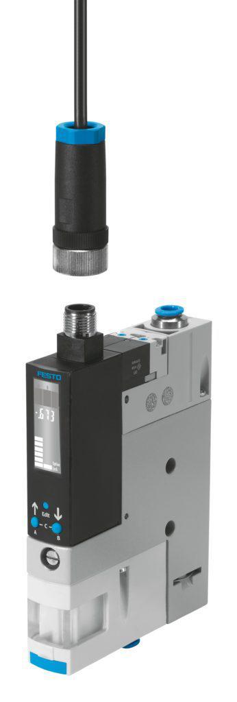 Ejektor Festo OVEM obsahuje ventil pro spínání podtlaku